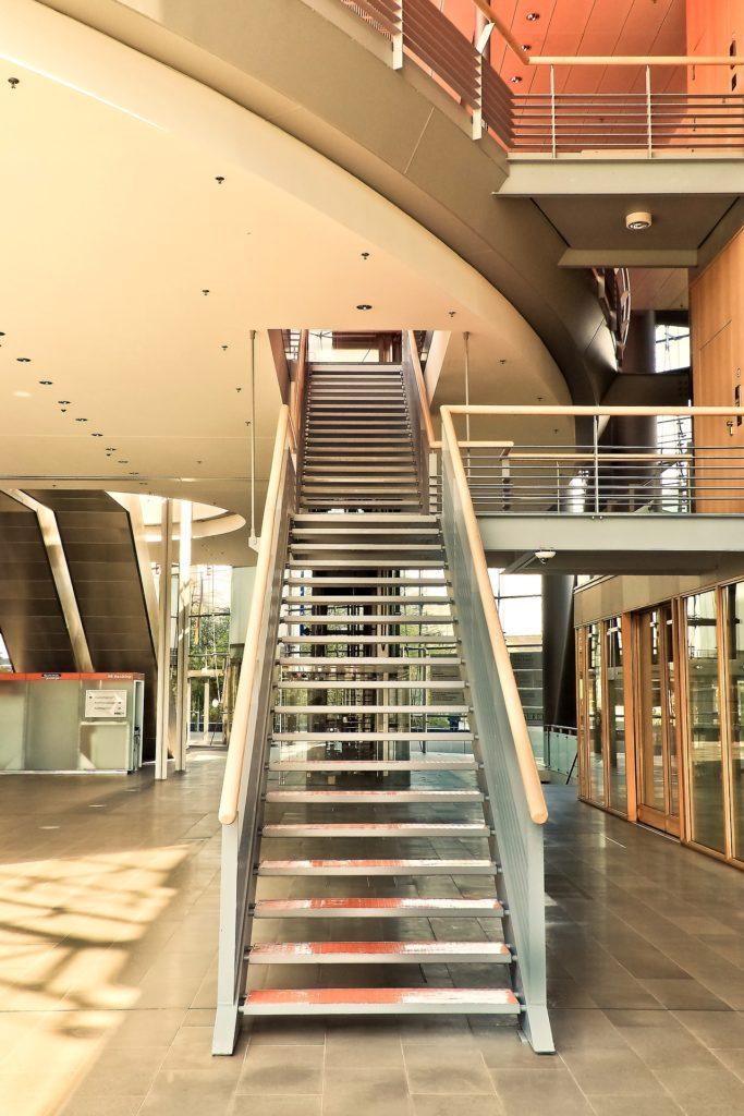 Program Inside University Staircase